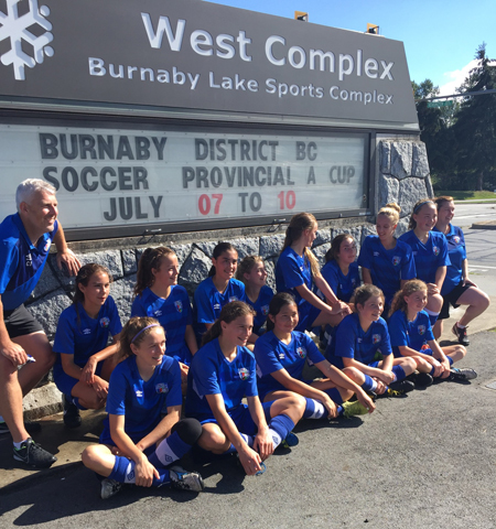 DCS U13 Girls take Bronze in the 2016 Provincial Cup