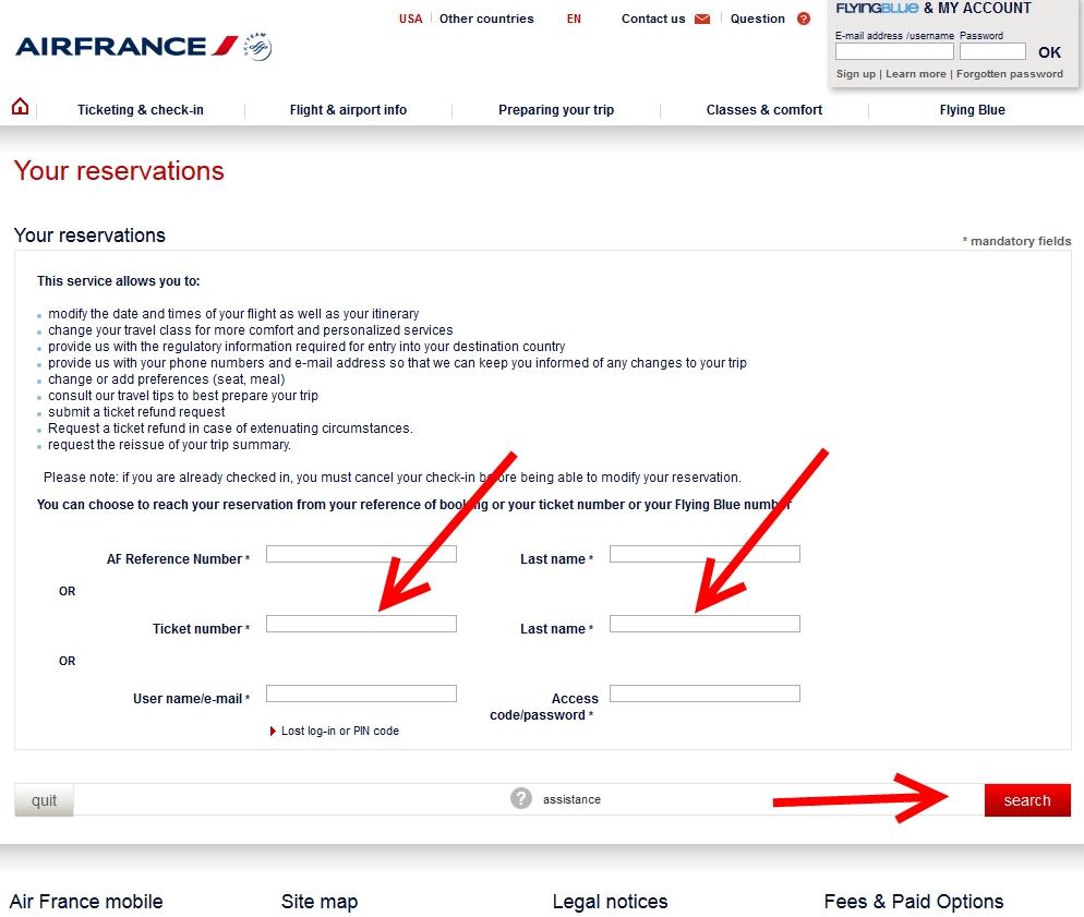 Delta confirmation numbers now work on af klm web sites for Site francais reservation hotel