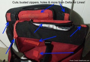 damage done to luggage by delta airlines delta points blog 1