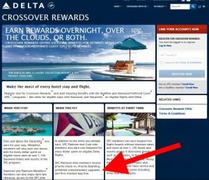 delta landing page crossover rewareds with spg delta points blog