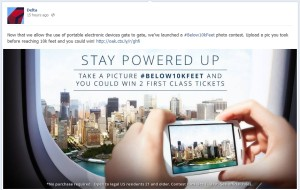 Delta #Below10KFeet facebook contest delta points blog