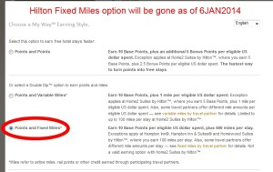 hilton fixed miles gone 6jan2014 delta points blog