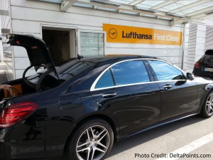 car service from plane Lufthansa MUC 1st class lounge delta points blog (3)