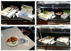 snack options at the united global first class lounge chicago ORD delta points blog
