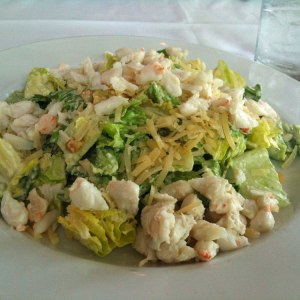 Caesar Salad with Smoky Chile Dressing and Crab