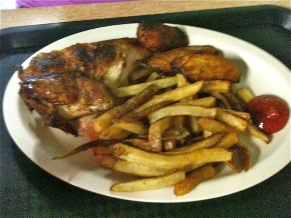 Mami Nora's - 1/4 Chicken White w/ Plantains and Fries