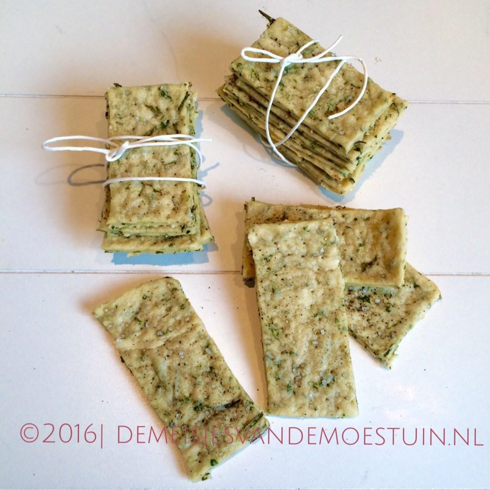 Makkelijk recept voor crackers met groene kruiden   de meisjes van ...