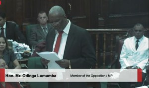 PPP Parliamentarian, Odinga Lumumba.