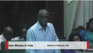 Minister of Citizenship, Winston Felix. He is also a former Commissioner of Police.