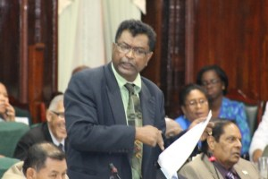 Minister of Public Security, Khemraj Ramjattan pointing to a decision by the then PPPC Cabinet in 2012 to increase gun licence fees.