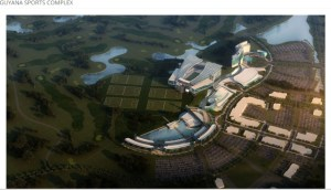 The proposed Guyana Sports Complex, according to Baker Barrios Architects, Inc.