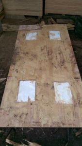 The cocaine in one of the split sheets of plywood
