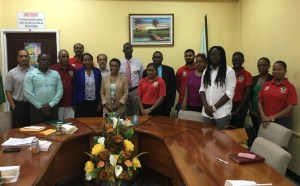 Representatives from United Nations' Food and Agriculture Organisation (FAO) with Senior Staff of Guyana Lands and Surveys Commission (GL&SC)