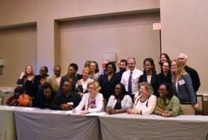Junior Minister of Public Health,  Dr. Karen Cummings (seated third from right) with participants at PEPFAR meeting held recently in Florida.