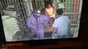 The image of one of the bandits captured from surveillance video.