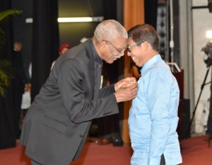 Mr. Stanley Ming, Businessman, was bestowed with the Golden Arrow of Achievement for his contributions in the area of Business and Infrastructural Development to Guyana.