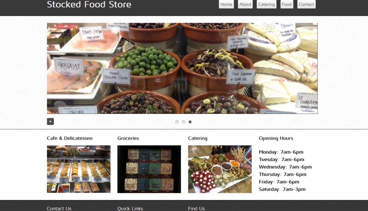Stocked Food Store