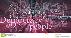 """الديمقراطية وتجلياتها """"الأشكال التي ظهرت بها والأبعاد التي ذهبت إليها"""""""