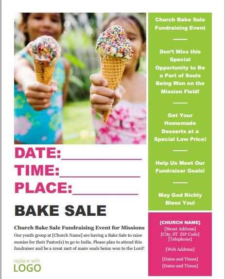 free fundraiser flyer template