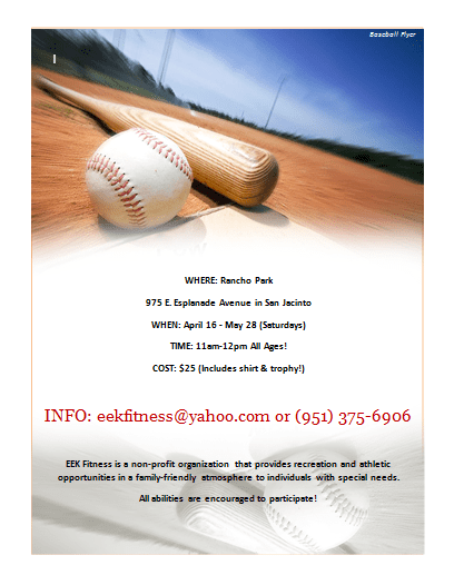 20 best free sports flyer templates demplates for Baseball brochure template