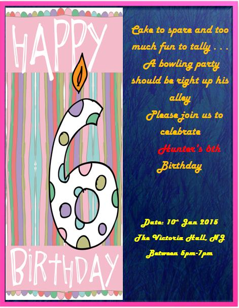 6th Birthday Invitation Templates- 1