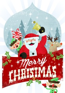 Merry Christmas - Santa Claus Postcard