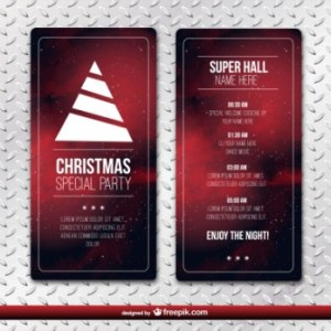 Office Christmas Party Flyer PSD