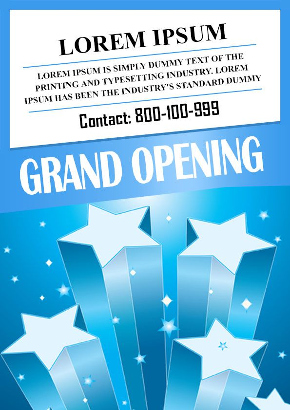 Poster Template » Grand Opening Poster Template - Poster Template
