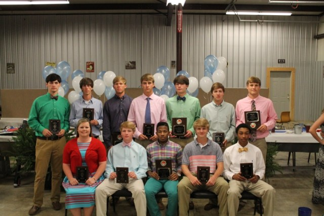 Boys Basketball  seated - Molly Hale, Cade Hall, Laquain Foster, Joseph Broom, Jay Pickens standing - Alex Jeter, Tyler Warren, Matt Hale, Brad Aldridge, Kelton Hall, Chandler Thompson, Sam Cobb.
