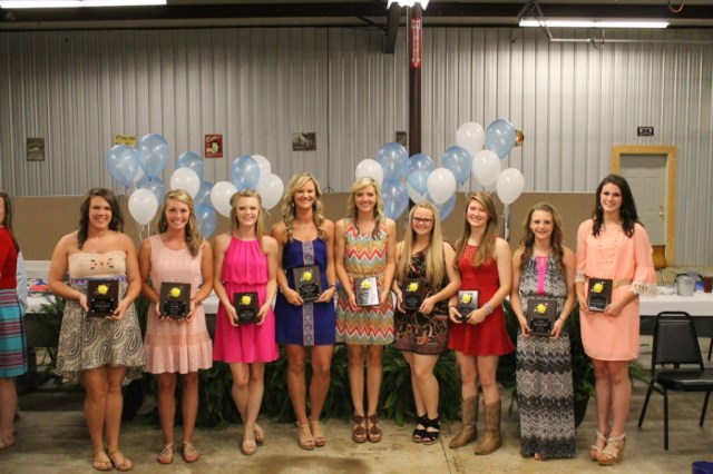 Fast Pitch Softball from left: Hannah Russell, Erin Wall, Maggie Smithey, Lauren Koon, Lindsay Hall, Kelly Fooshee, Kasey Carson, Gara Beth Self, Lauren Thompson.
