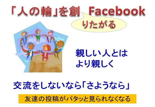 「人の輪」を創りたがるFacebook