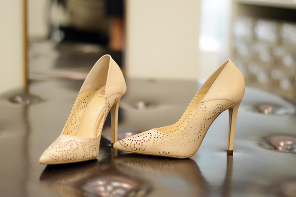 Nude Pointed Pumps by Bata Bulgaria Mall, selected by Denina Martin