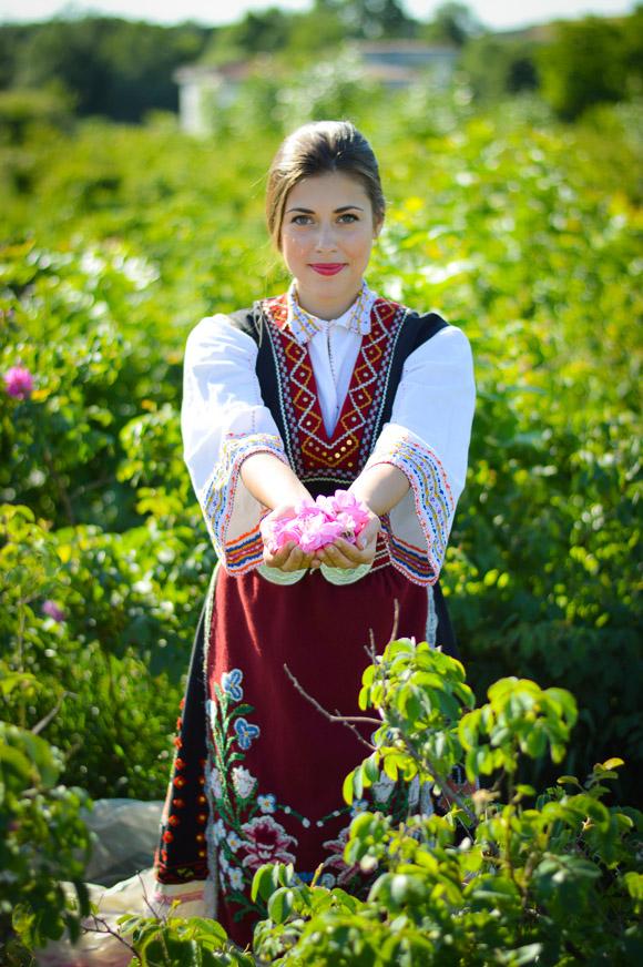 Bulgarian Traditional Attire worn by Bulgarian Fashion Blogger Denina Martin