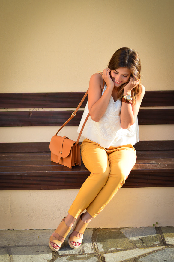 Mustard Pants by Mango styled by Denina Martin