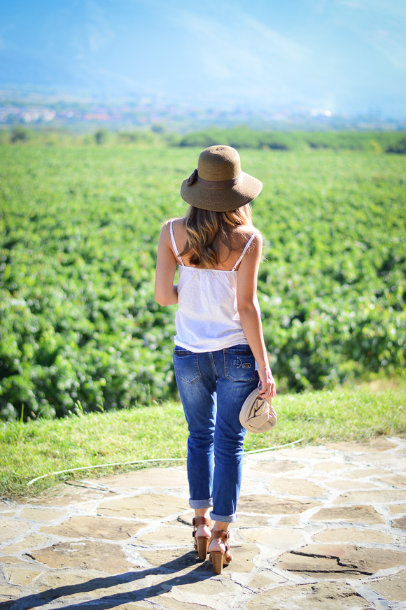 Bulgarian Fashion Blogger Denina Martin at Chateau Copsa Winery