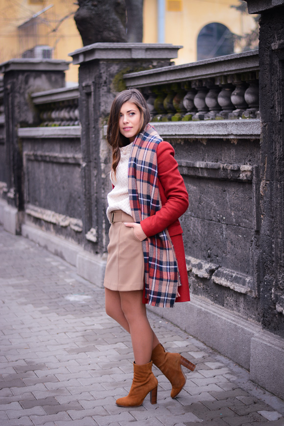 Winter-Red-Coat-Plaid-Scarf-Suede-Boots-Denina-Martin-2