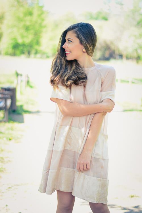 Denina Martin wearing H&M Conscious Exclusive 2016 Light Pink Dress