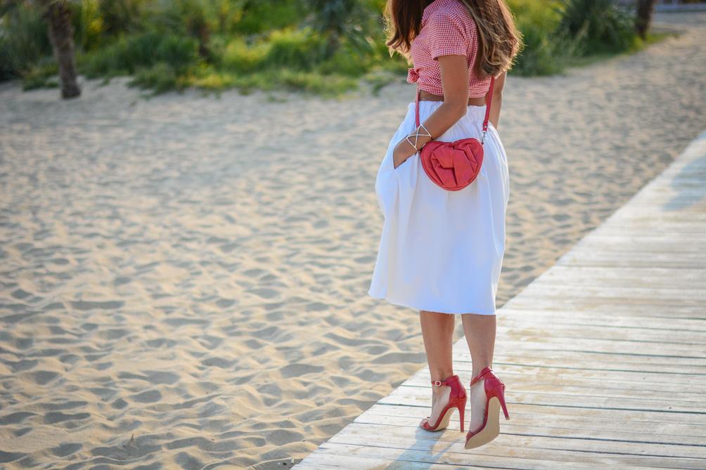 Deichmann High Heels Red Heeled Sandals Summer Outfit Bulgarian Blogger