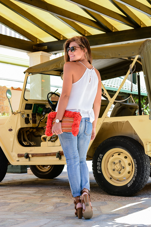 Ripped Jeans Transitional Look by Denina Martin