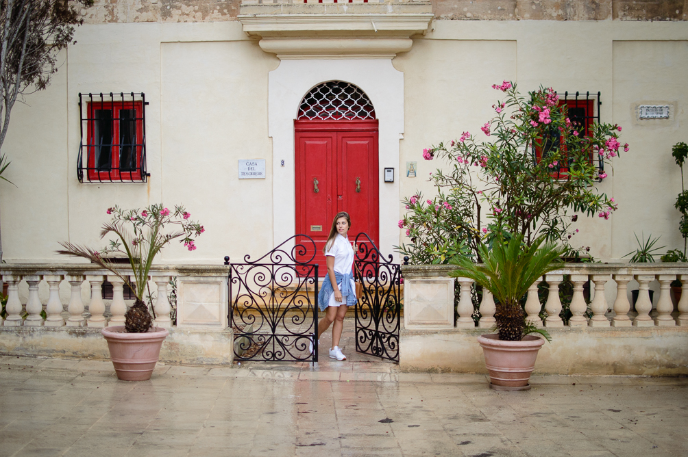 Denina Martin at Mdina town