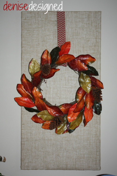 fall wall burlap wreath