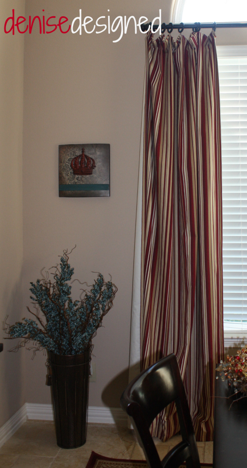 home tour dining curtains