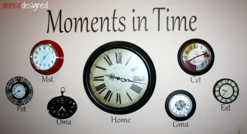 wall clocks closeup