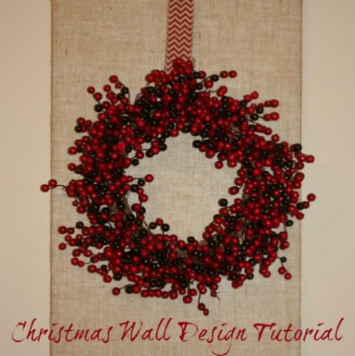 Christmas Wall Design Tutorial