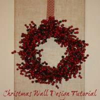 Christmas Wall Design Tutorial