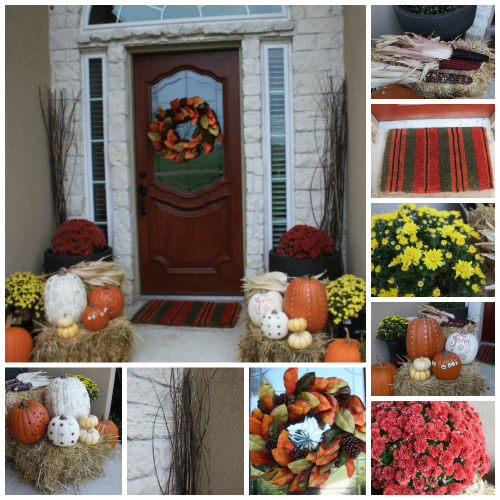 fall porch feature