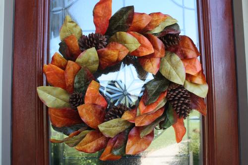 fall porch wreath