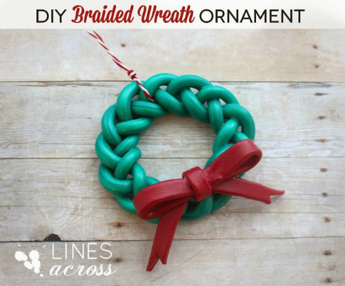 DIY Braided Wreath Polymer Clay Ornament