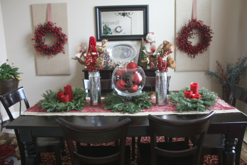 christmas home tour dining Christmas Tablescape