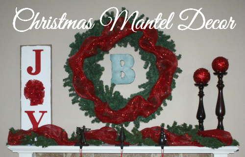 christmas mantel feature Christmas Home Tour